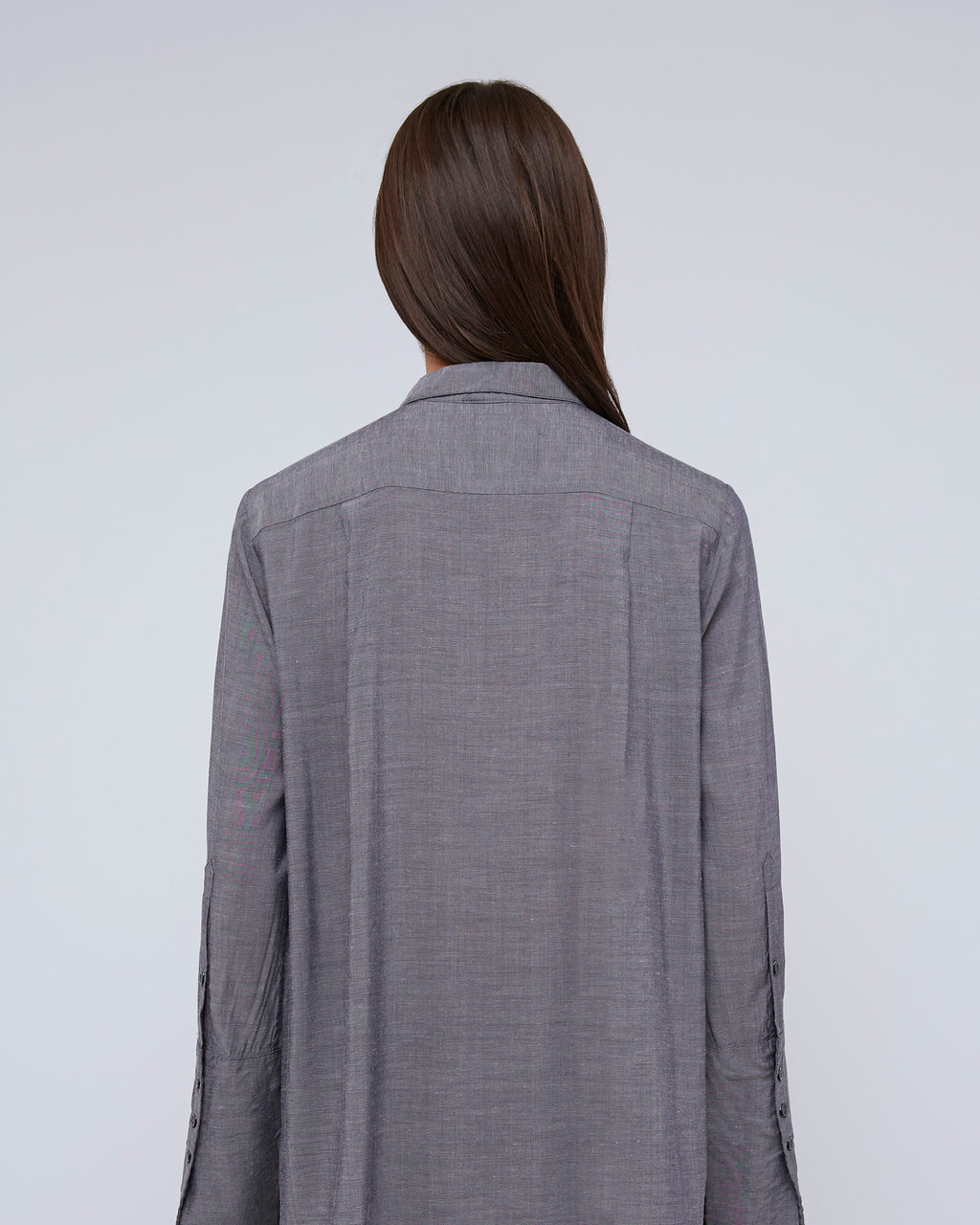 The Francis Shirt In Graphite Blue