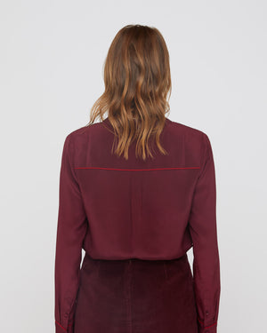 The Nora Shirt in Mulberry