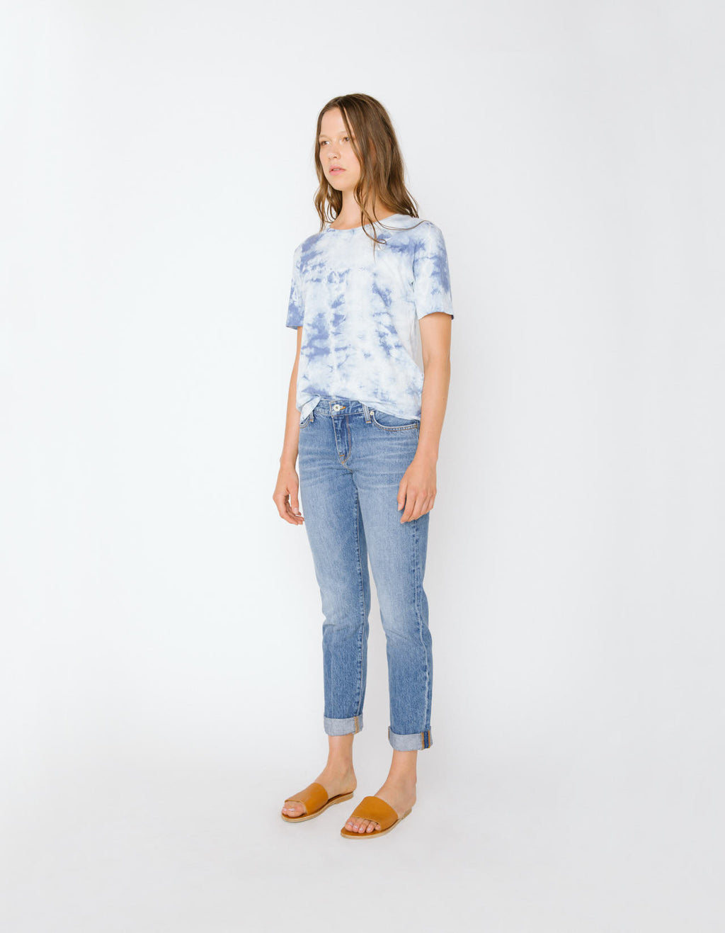 The Short Sleeve Crew Neck Tee in Breeze Tie Dye