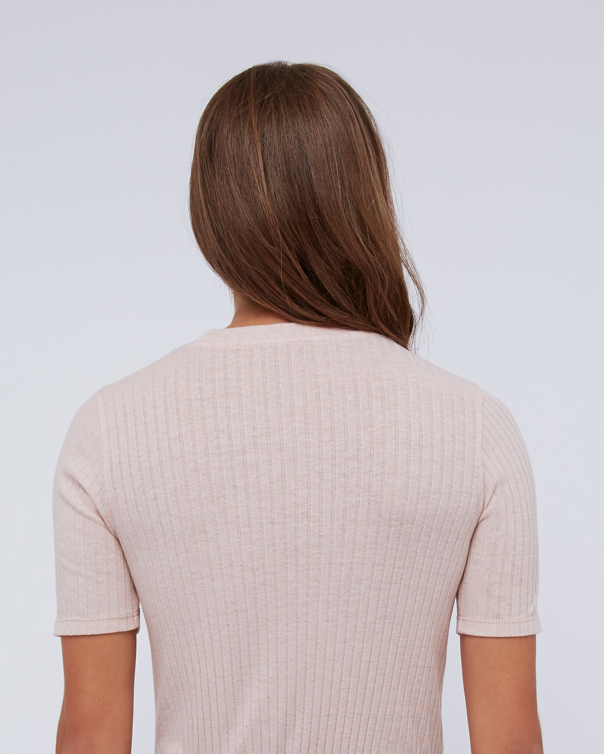 The Sabina Tee In Peachskin