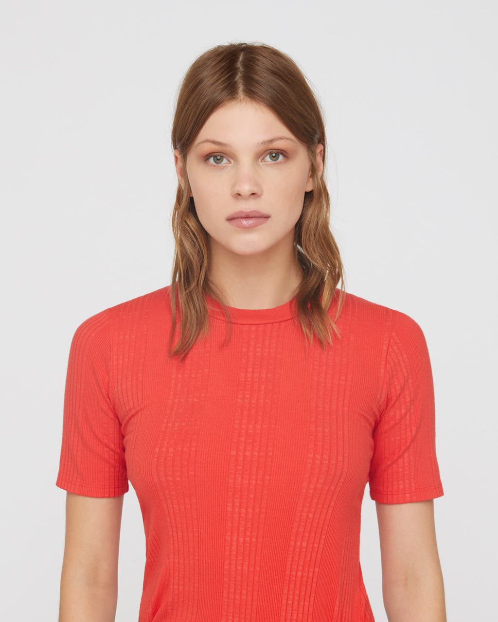 The Sabina Tee in Poppy
