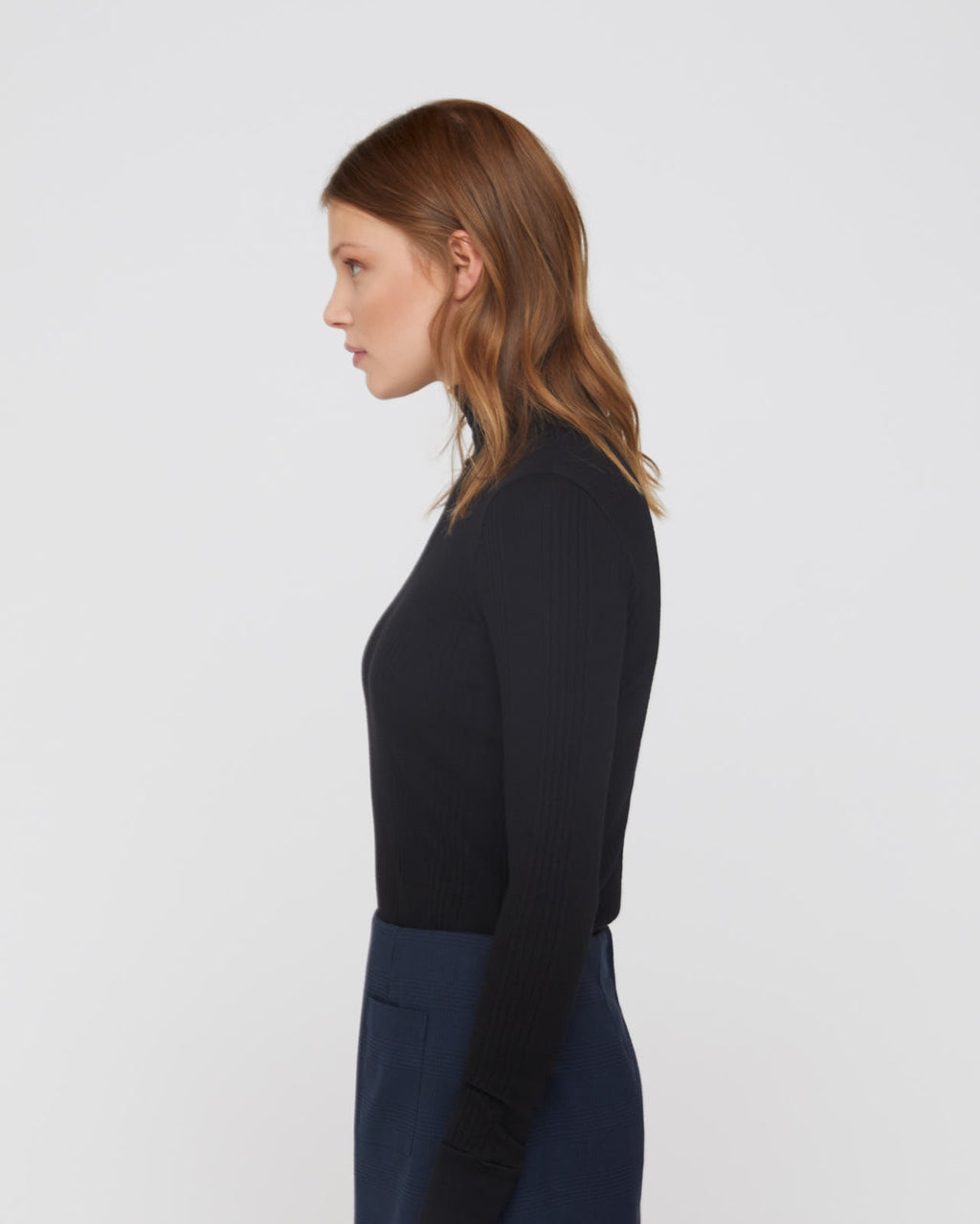 The Janie Turtleneck in Black