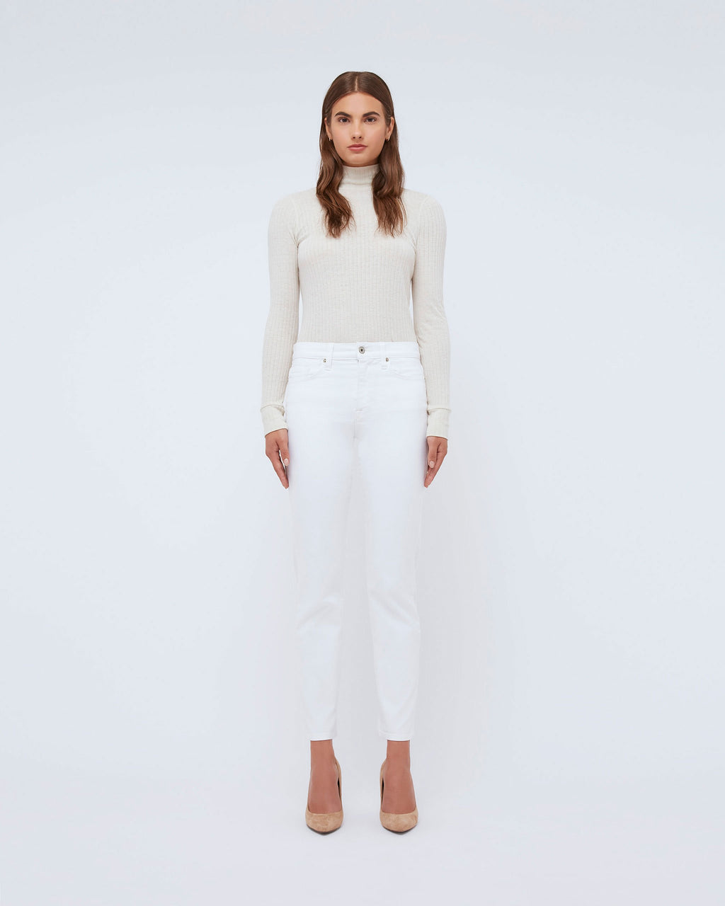 The Janie Turtleneck in Creampuff