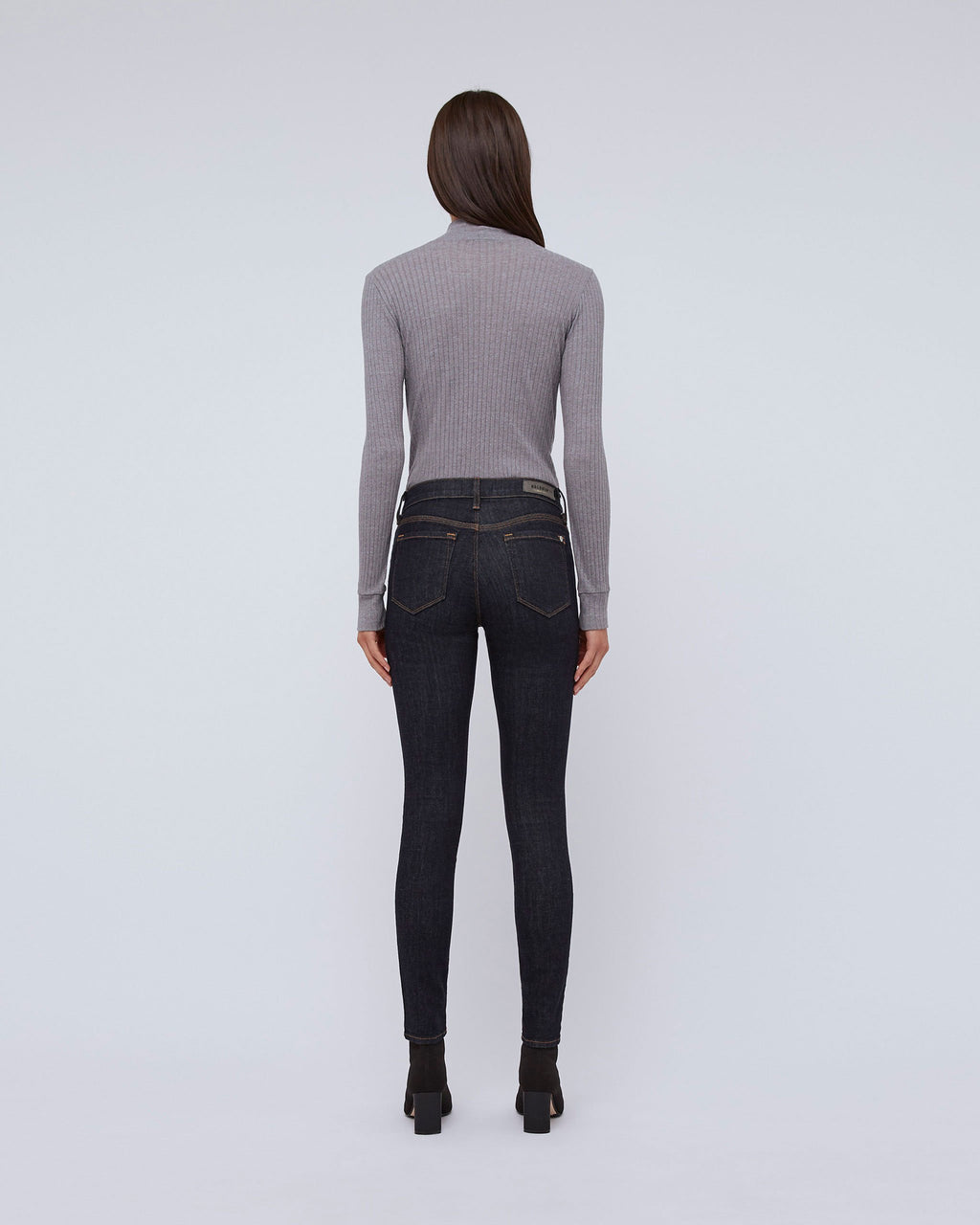 The Janie Turtleneck In Mist Heather