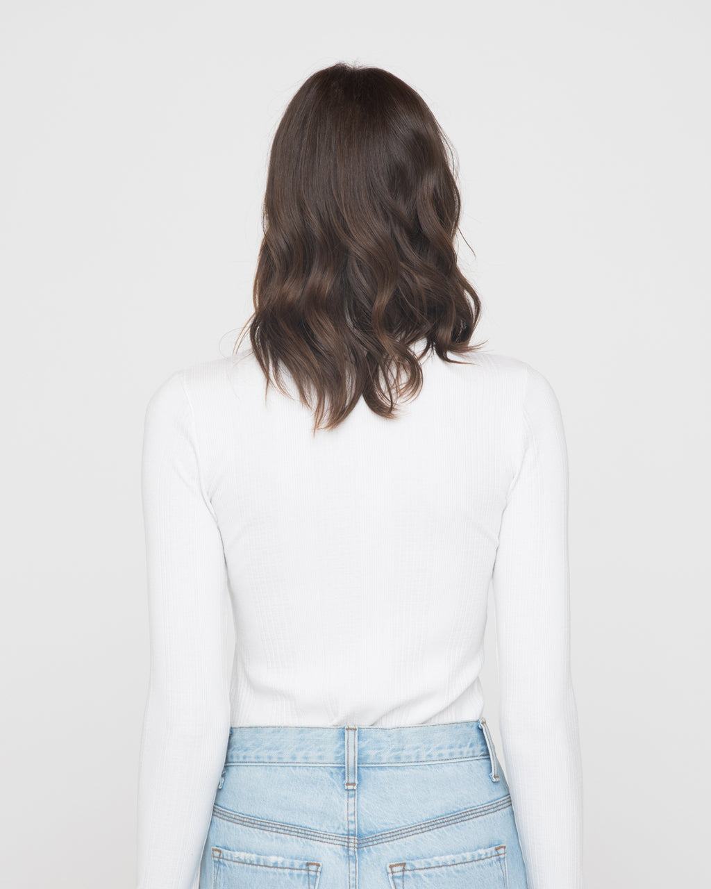 The Janie Turtleneck in White