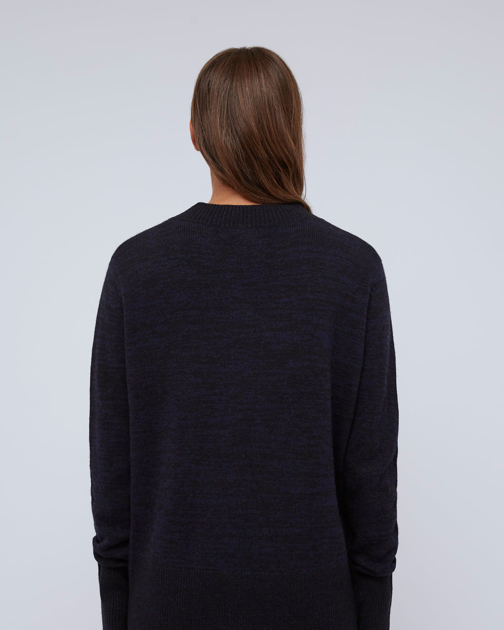 The Lana Sweater In Graphite Blue