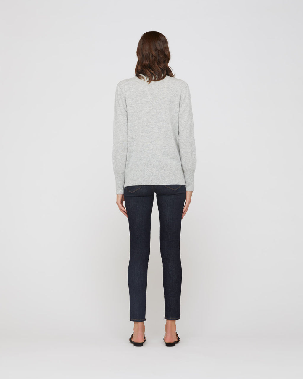 The Lana Sweater in Light Heather Grey
