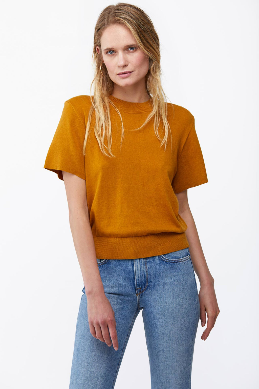 The Addie Sweater in Goldenrod