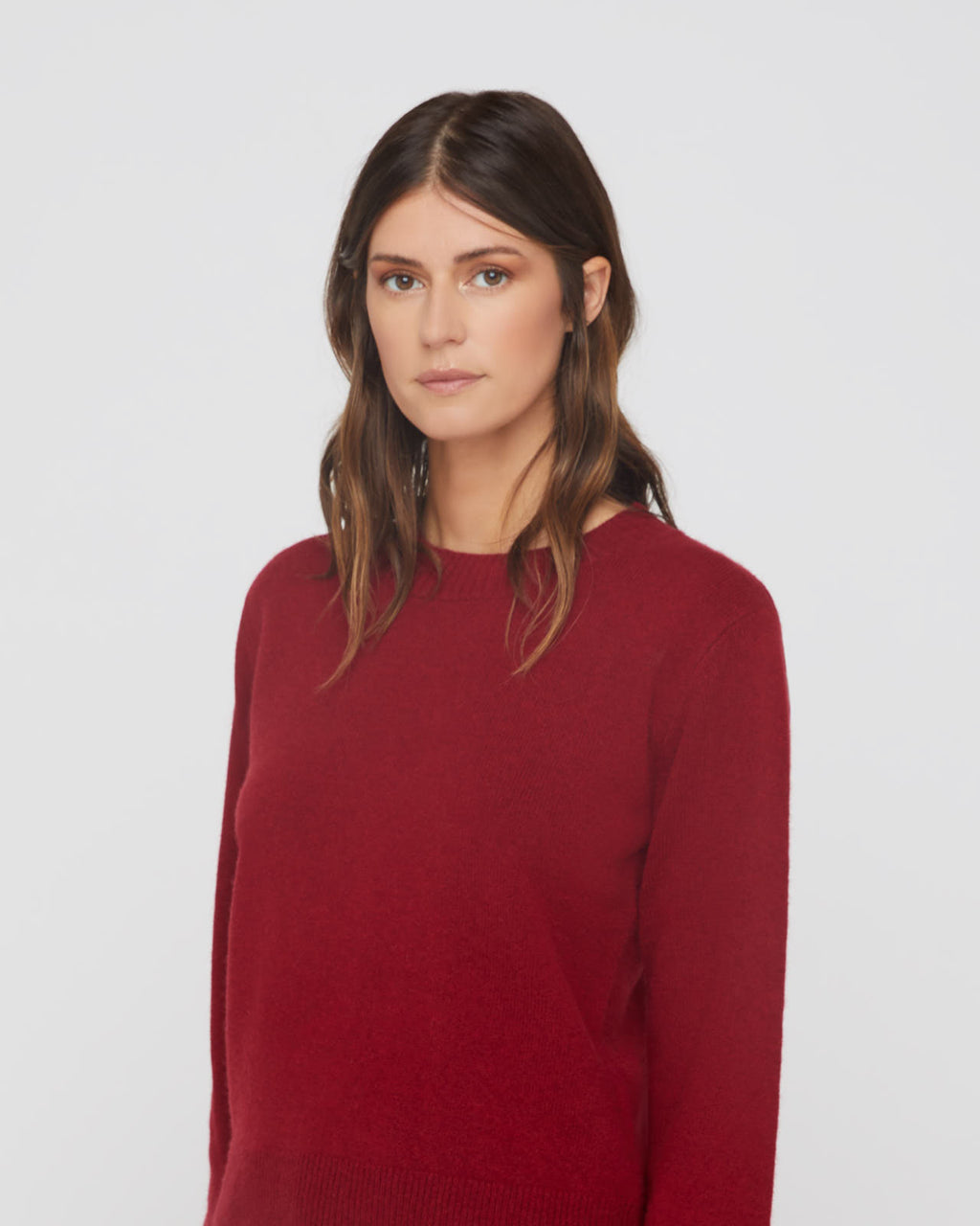 The Harvey Sweater in Red Velvet