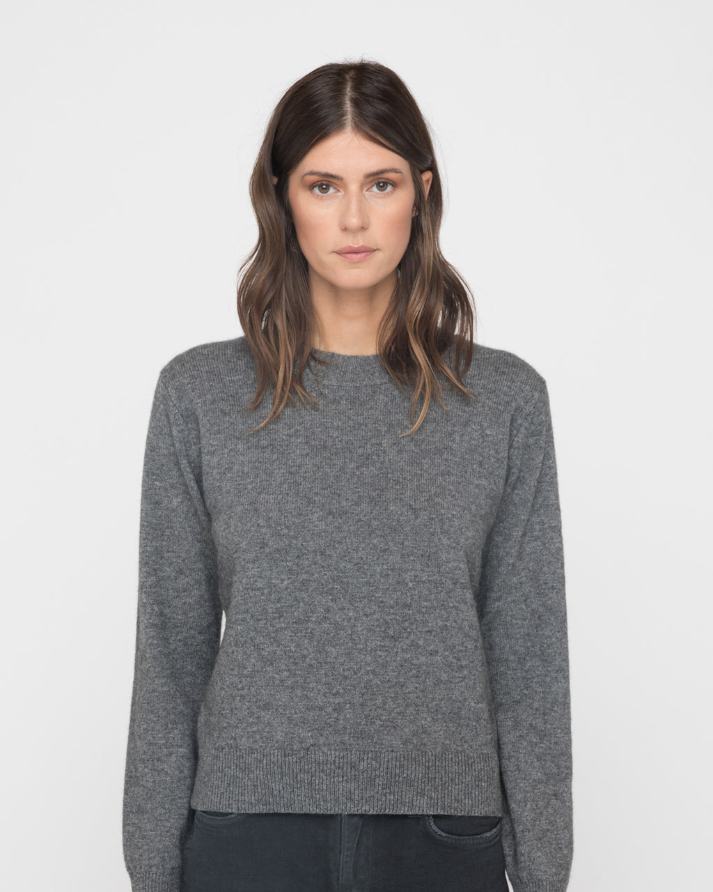 The Harvey Sweater in Heather Grey