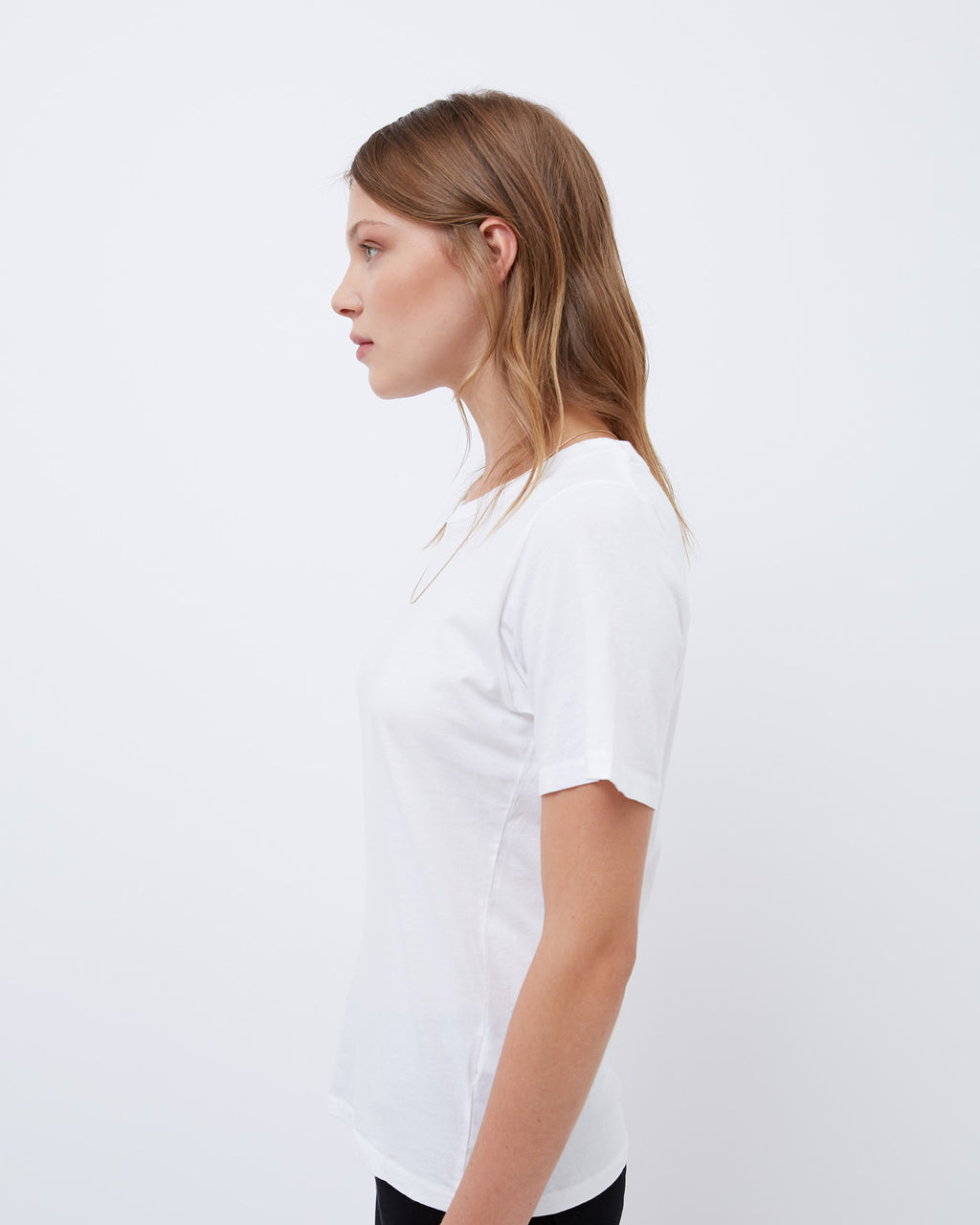 The Short Sleeve Crew Neck Tee in White