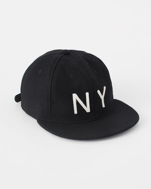 The NY Hat Strapback in Black/White