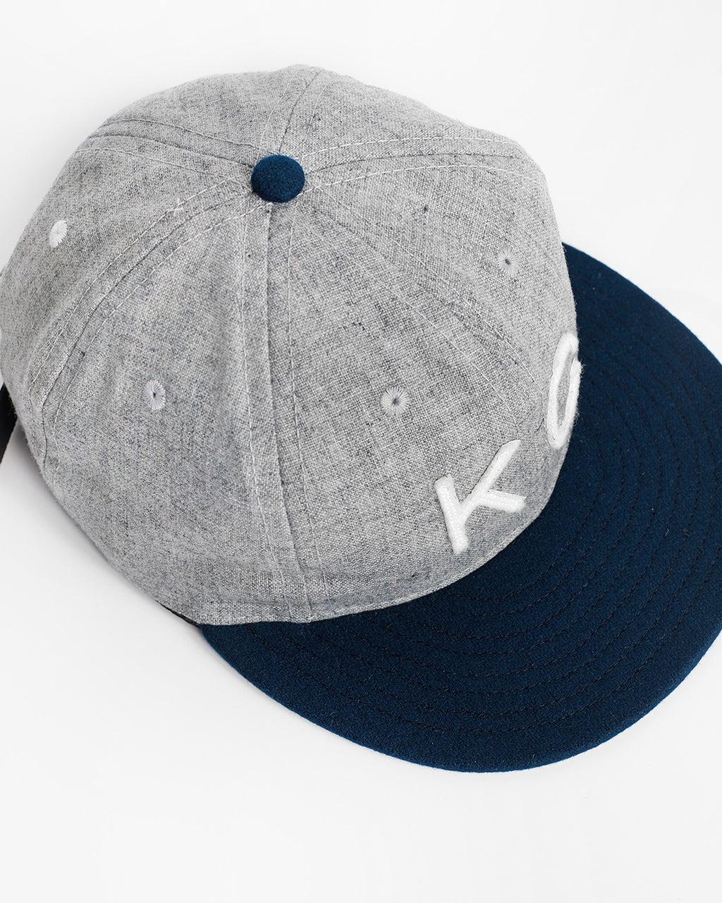 The KC Hat Strapback in Grey/Navy