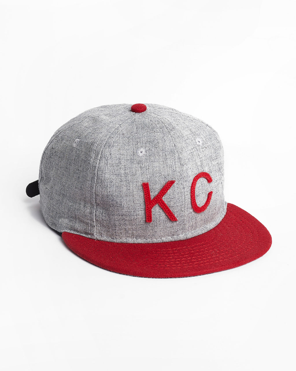 The KC Hat Strapback in Grey/Red