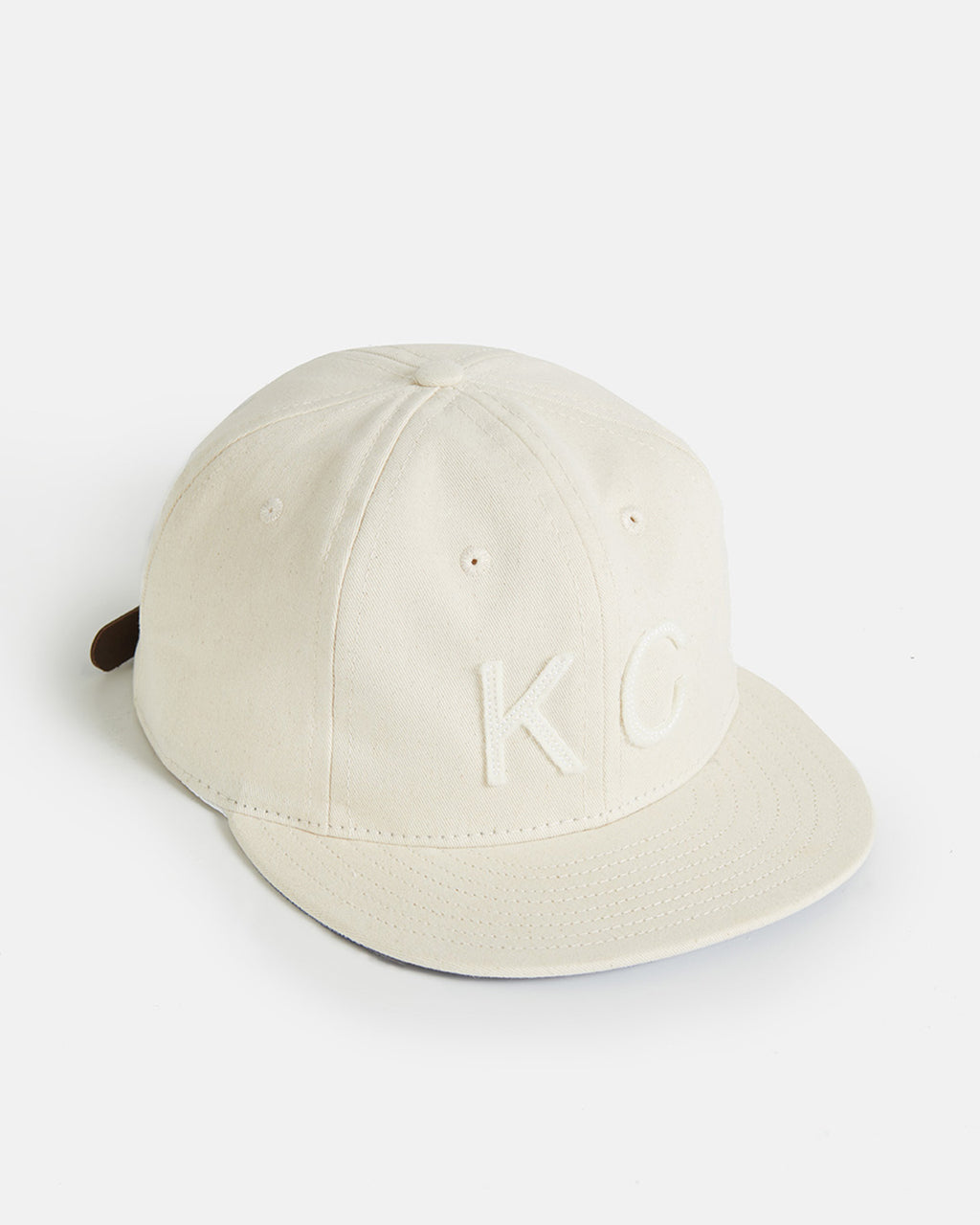 The KC Hat Leather Strapback in Natural/Natural