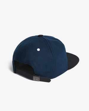 The KC Hat Strapback in Navy/Black