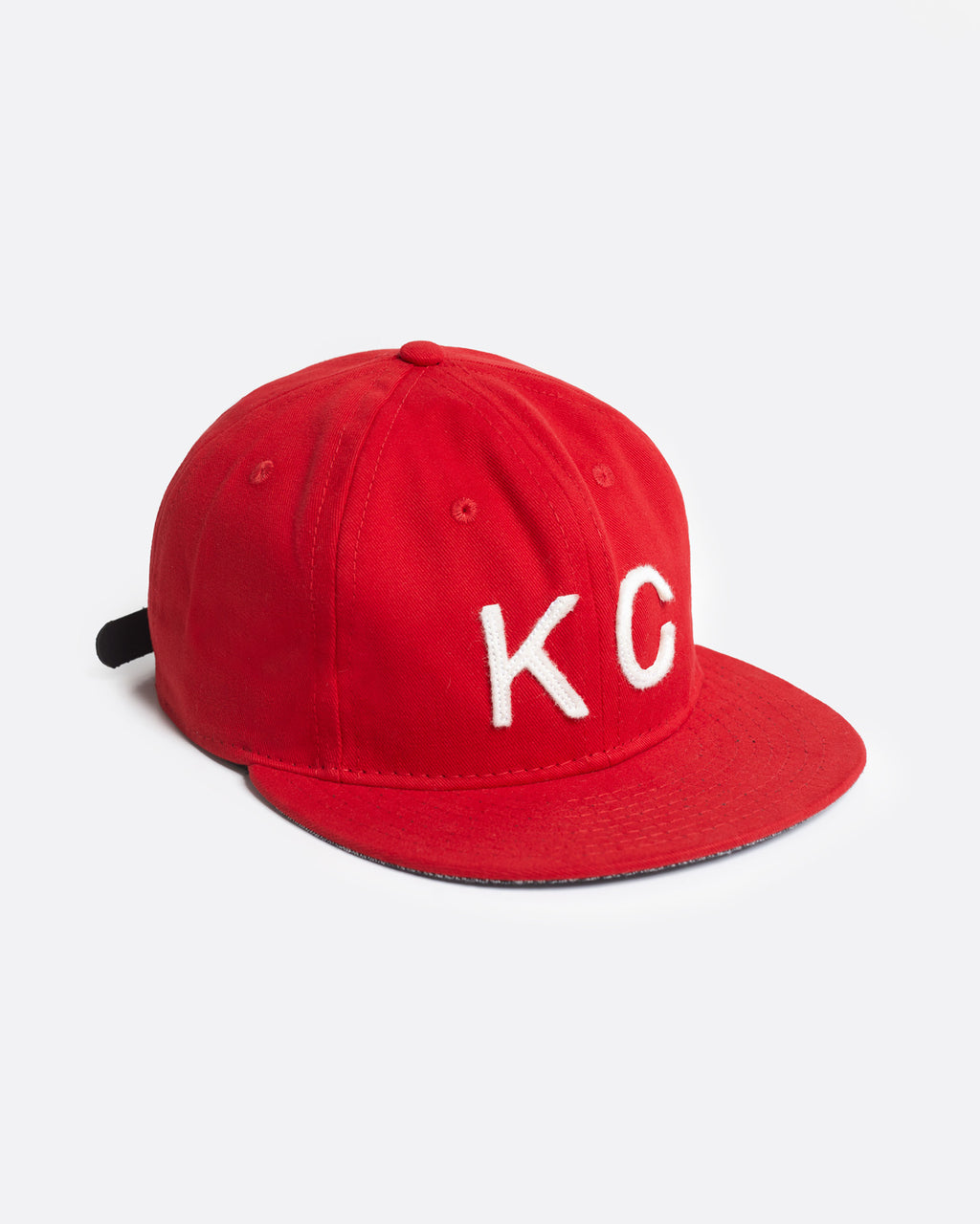 The KC Hat Strapback in Red/White