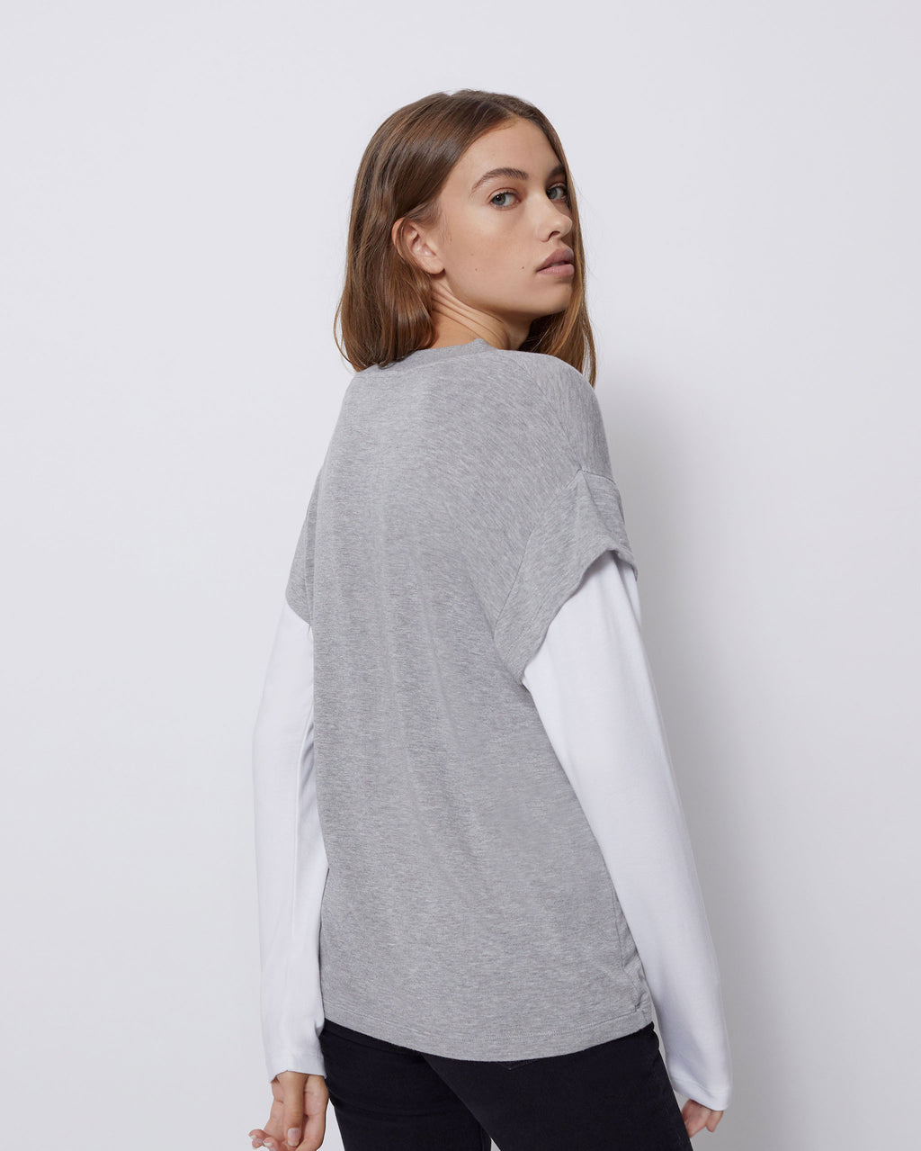The Lauren Tee in Heather Grey