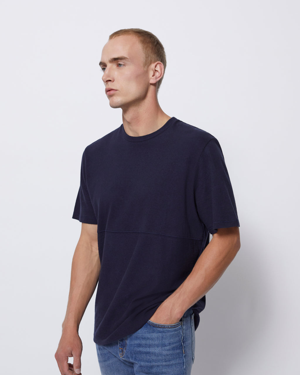 The Willet Tee in Navy