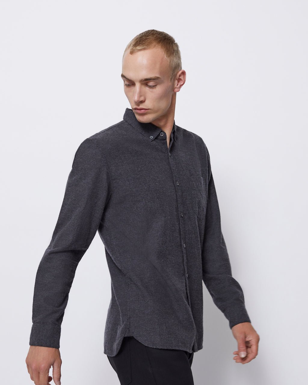 The Hansen Shirt in Charcoal