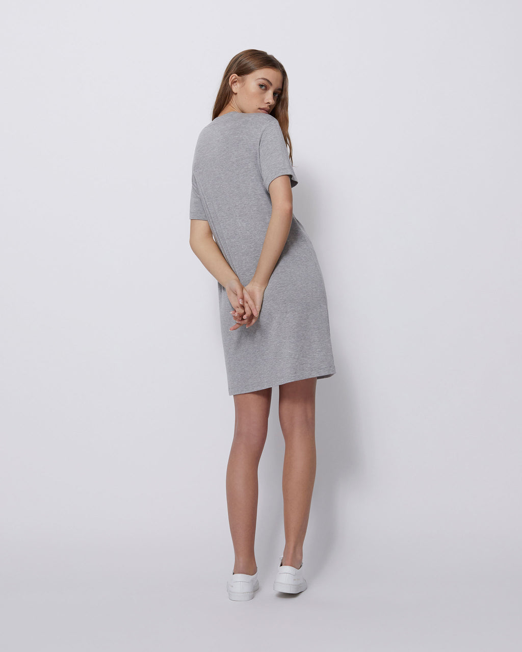 The Leah Dress in Heather Grey