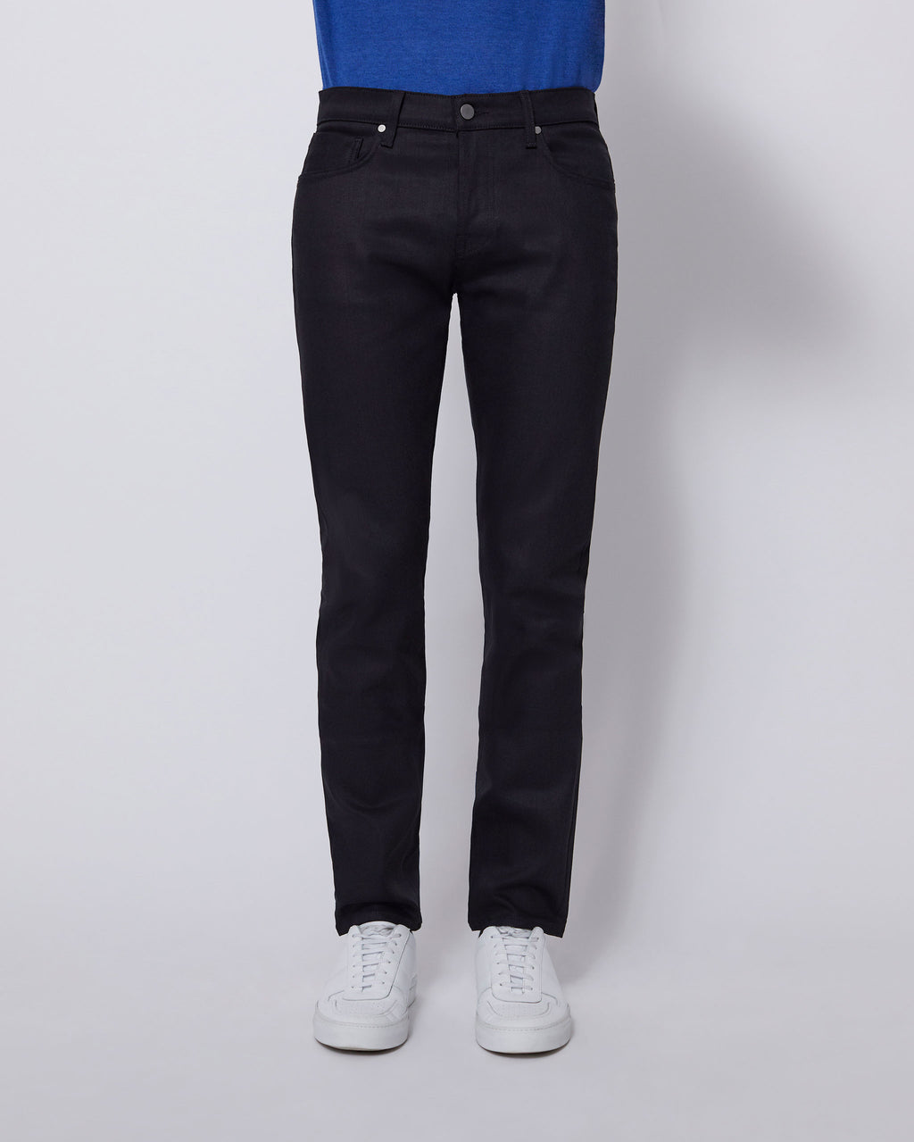 The Modern Slim Jean in Black Stretch Selvedge
