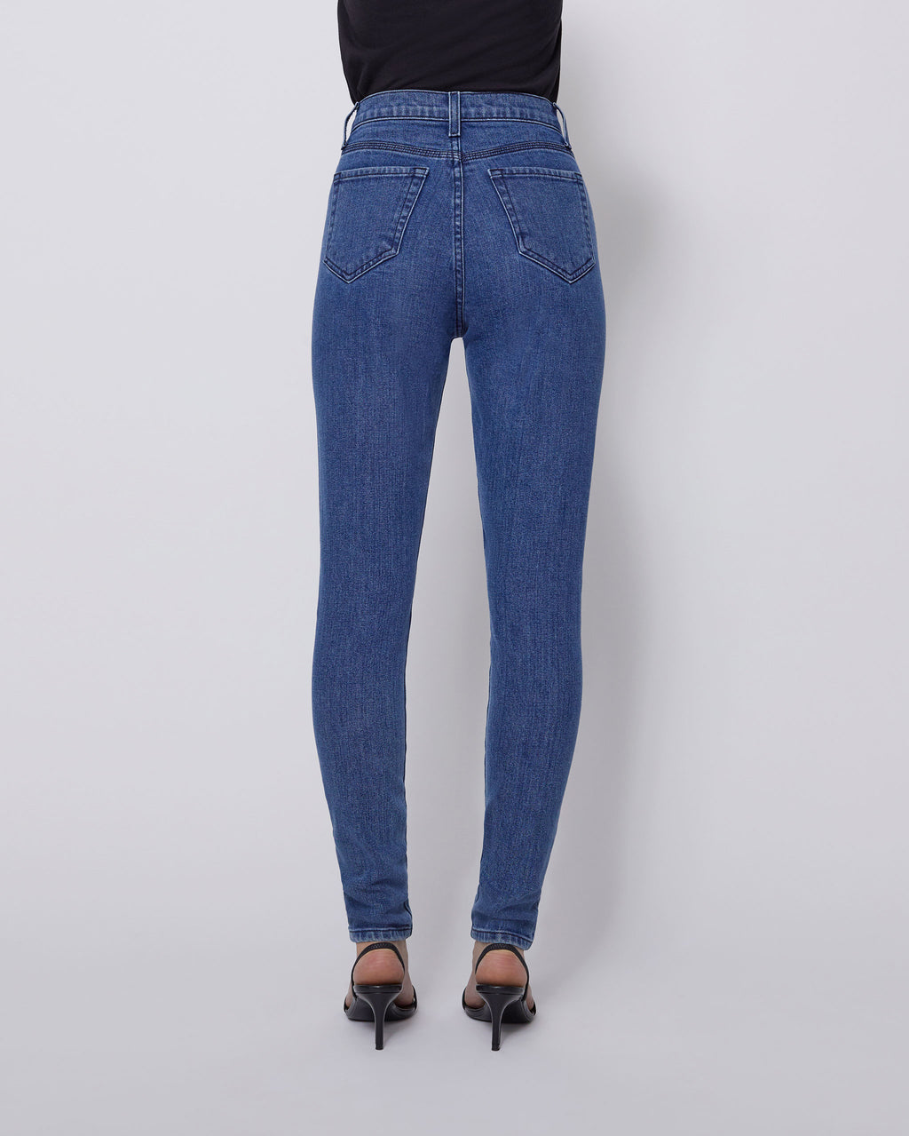 The Ultra High Rise Skinny Jean in Medium Clear Blue