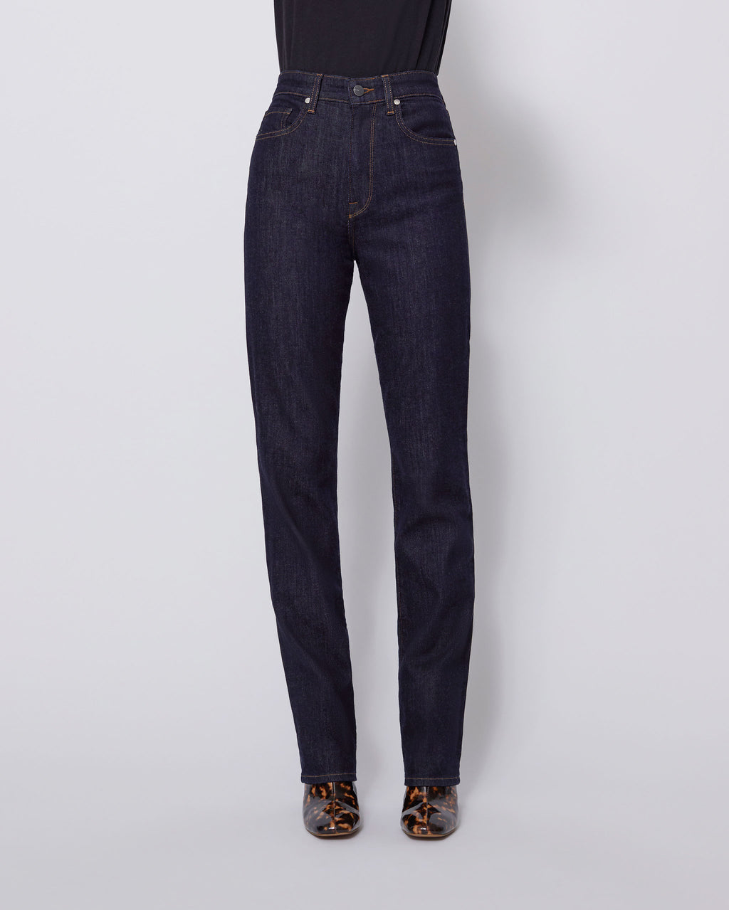 The High Rise Relaxed Jean in Abyss