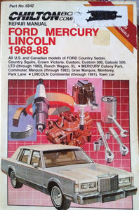 Ford Mercury Lincoln 1968-88 Chilton's Guide