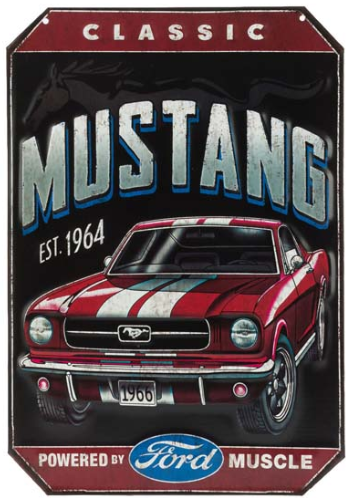 Classic 66 Mustang Embossed Tin Sign