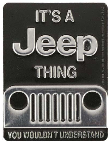 Jeep Thing Embossed Tin Magnet