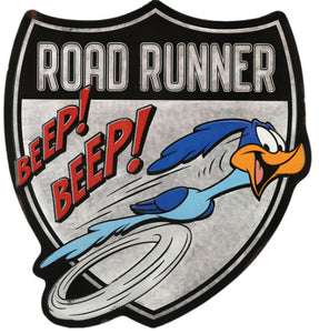 Road Runner Beep Beep Embossed Metal Sign