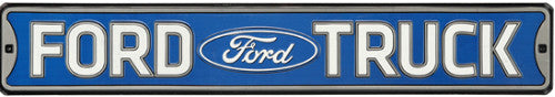 Ford Truck High-Gloss Embossed Tin Sign