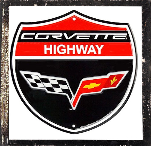 Corvette Highway C6 Shield Sign