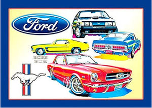 Ford Mustang Collage Tin Sign