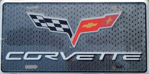 Chevrolet Chevy New Corvette Licensed Aluminum Metal License Plate Sign