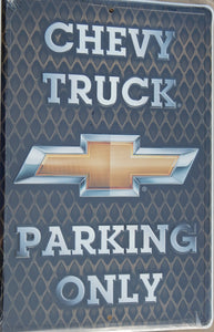 Chevy Truck Parking Only Sign