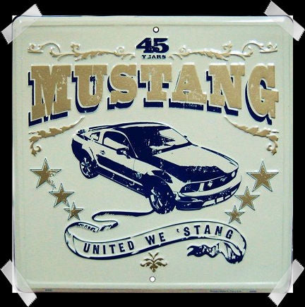 FORD MUSTANG UNITED WE STAND 12 x 12