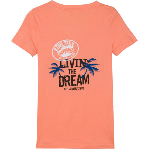 LIVIN' THE DREAM WOMENS PEACH T-SHIRT
