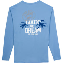 Load image into Gallery viewer, LIVIN' THE DREAM LONG SLEEVE PERFORMANCE SHIRT