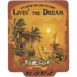 LIVIN' THE DREAM VINTAGE STICKER