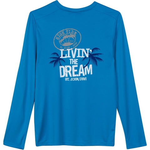 LIVIN' THE DREAM YOUTH LONG SLEEVE PERFORMANCE SHIRT