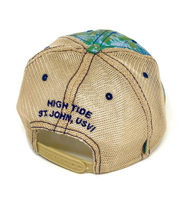 ISLAND PALM TRUCKER HAT
