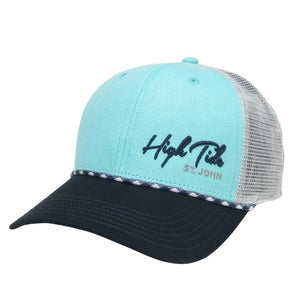 HIGH TIDE MID PRO SLANT SCRIPT TRUCKER HAT