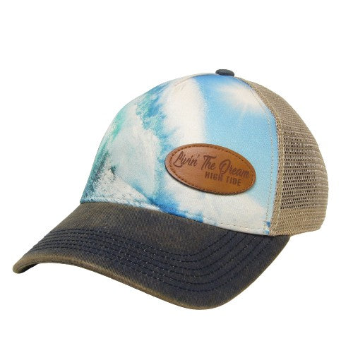 LIVIN' THE DREAM WAVE TRUCKER HAT