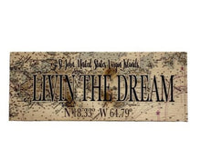 Load image into Gallery viewer, SOLID WOODEN MAP  OF ST. JOHN WITH LIVIN' THE DREAM
