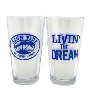 LIVIN' THE DREAM TWO PINT GLASSES