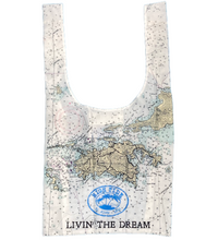 Load image into Gallery viewer, HIGH TIDE REUSABLE ISLAND MAP BAG