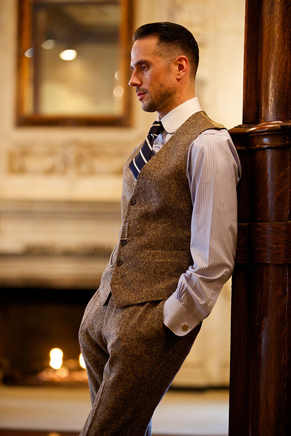Mens Tweed Waistcoats | Mens Tweed Check Waistcoats | Mens Tweed Suits | How To Wear a Waistcoat