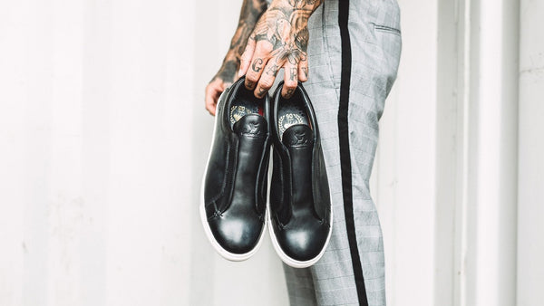NEWARK BLACK PLIMSOLLS | MENSTWEEDSUITS.COM